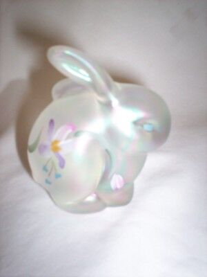 Fenton Hand painted opalescent bunny/rabbit