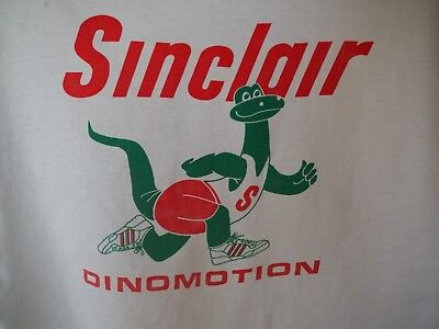 Vintage SINCLAIR Gasoline Gas Oil DINO Dinosaur 1988 XL T-Shirt RARE
