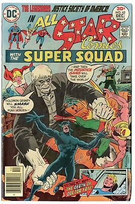All Star Comics #63 VF+ 8.5 white pages  Justice Society  DC  1976  No Reserve