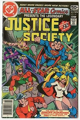 All Star Comics #74 VF/NM 9.0 white pages  Justice Society  DC  1978  No Reserve