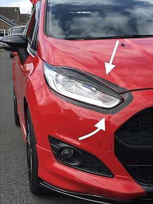 Ford Fiesta Upper Lower Eyebrows Mk7.5 Facelift Stance Show Track