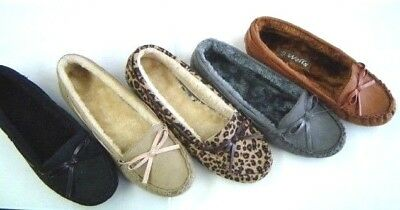 New Lady Women Winter Comfort Casual Moccasin Furry inSole  Flats Shoes
