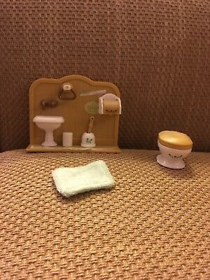 sylvanian families toilet set with accessories