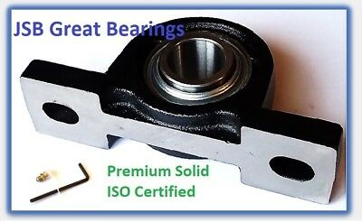 (4) Premium solid base UCP211-35 triple seals ABEC3 Pillow block bearings 2-3/16