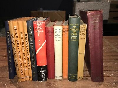 13 Each John F. Rider Book Collection All in one place at one time!
