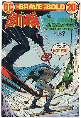 Brave & Bold #106 VF+ 8.5 ow/white pages  Batman  Green Arrow  DC  1973