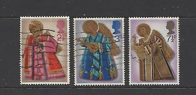 British stamps collection 1972 Christmas issue SG913 - SG915 full set GB