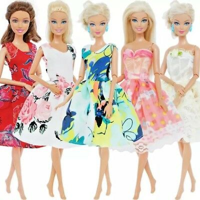 Handmade Dress Wedding Party Evening Clothes For Barbie Doll 5 different styles
