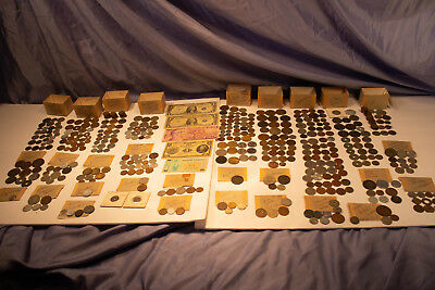 LOT antique forgein domestic currency (1803-1980's) 69 countries paper and coin