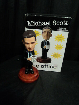 Collectable Micheal Scott The Office  Talking  Bobble Head