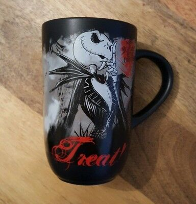 Disney Store Nightmare Before Christmas Jack Skellington Trick or Treat mug NEW