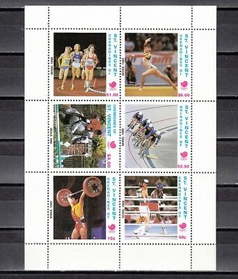St. Vincent, Grenadines, 1998 issue. Seoul Olympics sheet of 6