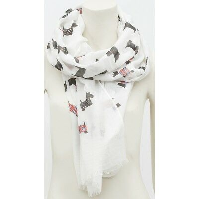 Cat Scarf Navy Blue Cream Ivory Cats Shawl Ladies Sarong Off White Wrap New