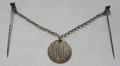 ANTIQUE 1901 CANADA sterling 10 CENT COIN - LOVE TOKEN JEWELRY