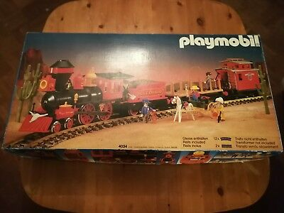 Playmobil Steaming Mary 4034 OVP + 4104 + 4112 + Gleise + Figuren +Trafo