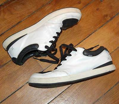 "VANS ""Jim Greco"" Hammer White/Black Leather Skate Board Shoes UK 9.5 EU 44 RARE"