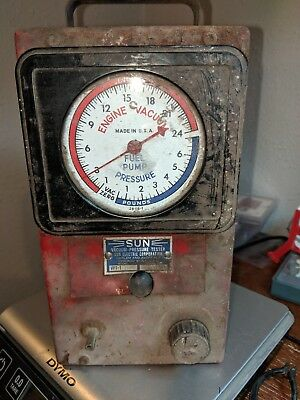 Vintage SUN Vacuum Pressure Tester - Model VPT-1 - Unknown Working Condition