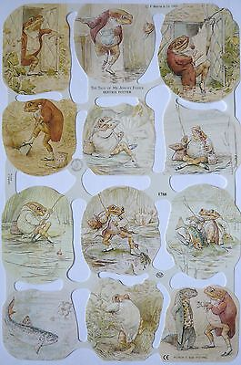 Glanzbilder MLP 1788 Beatrix Potter Tiere Lurch angelt  Poesiebilder Oblaten