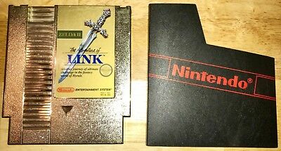 ZELDA II 2 The Adventure of Link Gold for Nintendo NES Game Cart Shown WORKING!