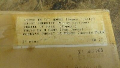 16 Mm Film  Cartoons  Tom Jerry  And Popeye  And Woody  Merrie Melo