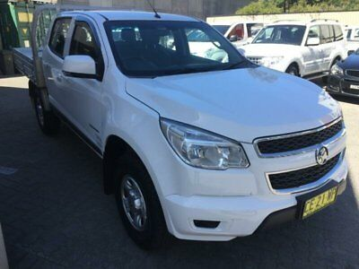 2015 Holden Colorado RG MY15 LS (4x2) White Automatic 6sp A Crew C/Chas