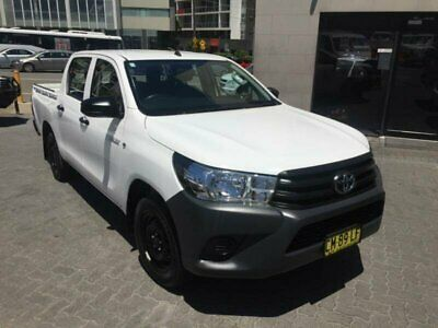 2017 Toyota Hilux TGN121R Workmate White Automatic 6sp A Dual Cab Utility