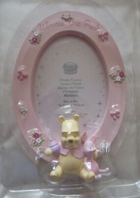 Disney Store Exclusive - Winnie The Pooh Pink Oval Photo Frame
