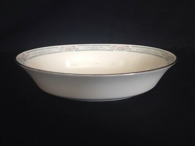 🔵 Vintage Lenox USA ~ CHARLESTON  Platinum Trim ~ Oval Serving Bowl 9 1/2""