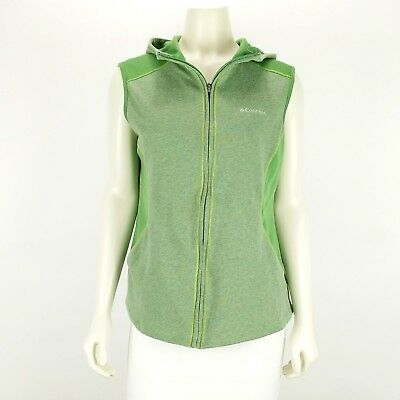 Columbia Sleeveless Hooded Vest Full Zip Front Green Women's Extra Large XL