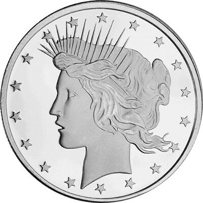 Liberty Peace Dollar 1oz .999 Silver Highland Mint Round