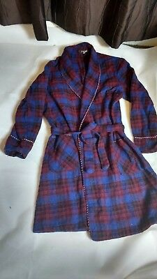 Vintage Pure Wool Dressing Gown by McGregor size large