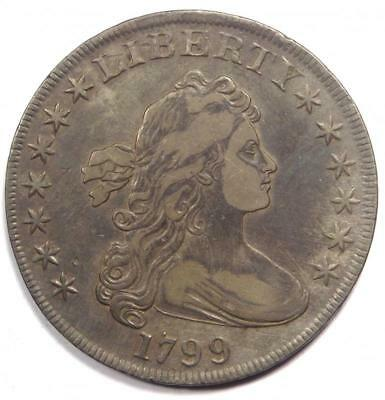 1799 Draped Bust Silver Dollar $1 - XF Details - Rare Type Coin!