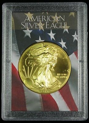2013 Gilded American Silver Eagle .999 Bullion 1oz Ounce Free Shipping 24k Gold