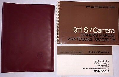 1975 Porsche 911 S 911S Carrera Owners Owner's Manual & Case OEM - Original 75