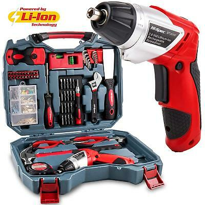Hi-Spec 160pc Household DIY Tool Kit including Powerful 4.8v Cordless with LED