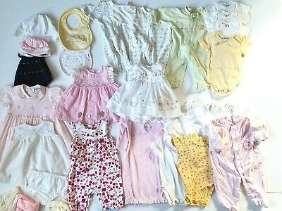 Huge Lot Baby Girls Clothes Layette 3 6 9 12 Mos Smocked Embroidered Dresses EUC