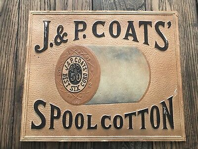 J & P COATS SPOOL CABINET SEWING CLARK 1880's Display Case