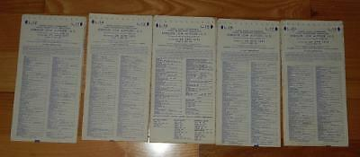 LOT of 5 SECTIONAL AERONAUTICAL LOW ALTITUDE ENROUTE CHARTS 1971 -GOVERNMENT MAP