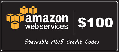 AWS Amazon Web Services Credit $100 promocode Credit Code exp 2020