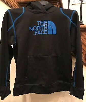 THE NORTH FACE Black & Blue Polyester Hoodie Boys Youth Large 14/16