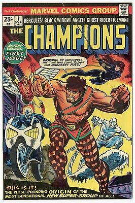 Champions #1 VF/NM 9.0 ow/white pages  Marvel  1975  No Reserve
