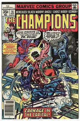 Champions #16 NM 9.4 white pages  Marvel  1977  No Reserve