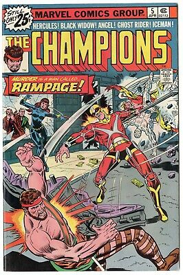 Champions #5 NM- 9.2 ow/white pages  Marvel  1976  No Reserve