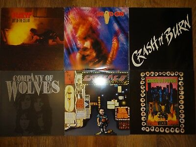 """45 x ROCK & HEAVY METAL LPs/12"""" [job lot #7] ALL CATALOGUED inc Rare and Promo"""