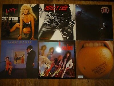 """45 x ROCK & HEAVY METAL LPs/12"""" [job lot #8] ALL CATALOGUED inc Rare and Promo"""