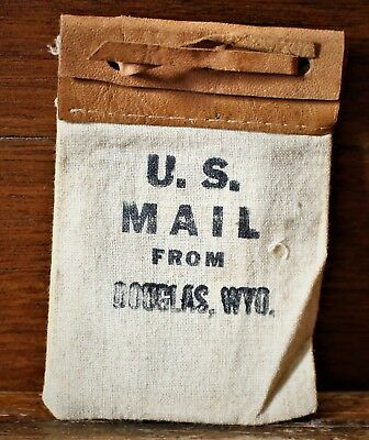 Vintage Small United States Mail Bag / Douglas Wyoming / Small Pictures Inside