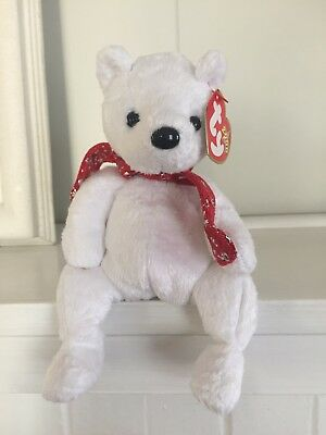180728766f8 RETIRED Holiday Teddy 2000 TY Beanie Baby RARE Plush Toy - MWMT - FREE  SHIPPING