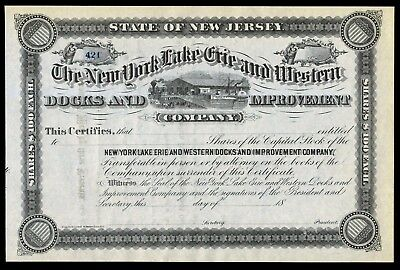 18xx New York Lake Erie and Western Docks and Improvements Company (Erie RR) F+