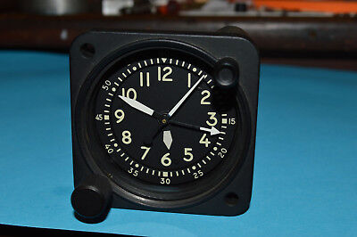 Waltham aircraft clock A13A type Military 22 jewel fully serviced nice condition