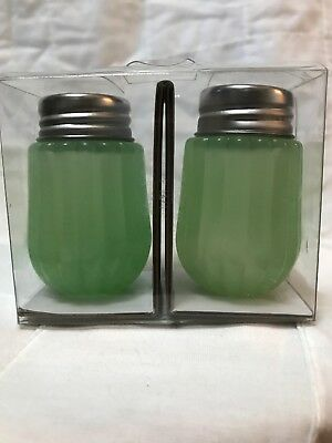 Hearth and Hand Magnolia Jadeite Glass Salt and Pepper Shakers NEW Target